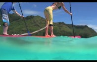 Paddling with Sharks in Tahiti
