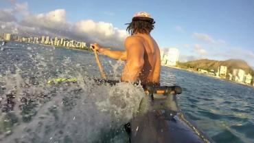 V1 Surfing Off Waikiki